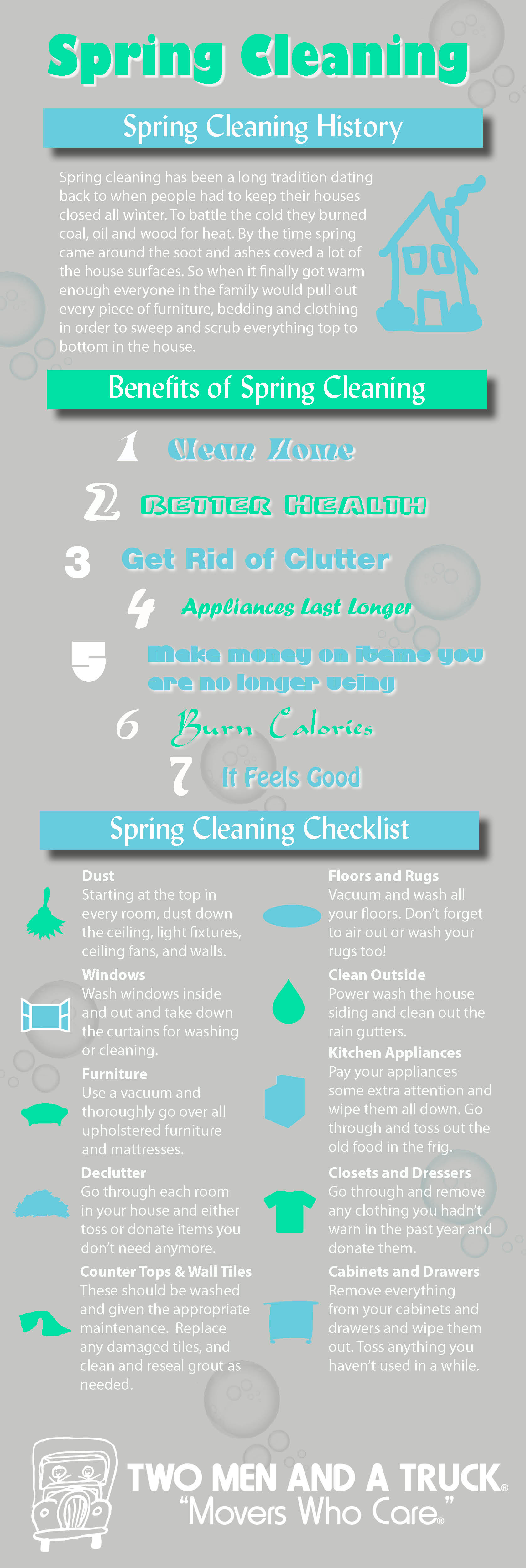 Spring Cleaning Infographic Two Men And A Truck