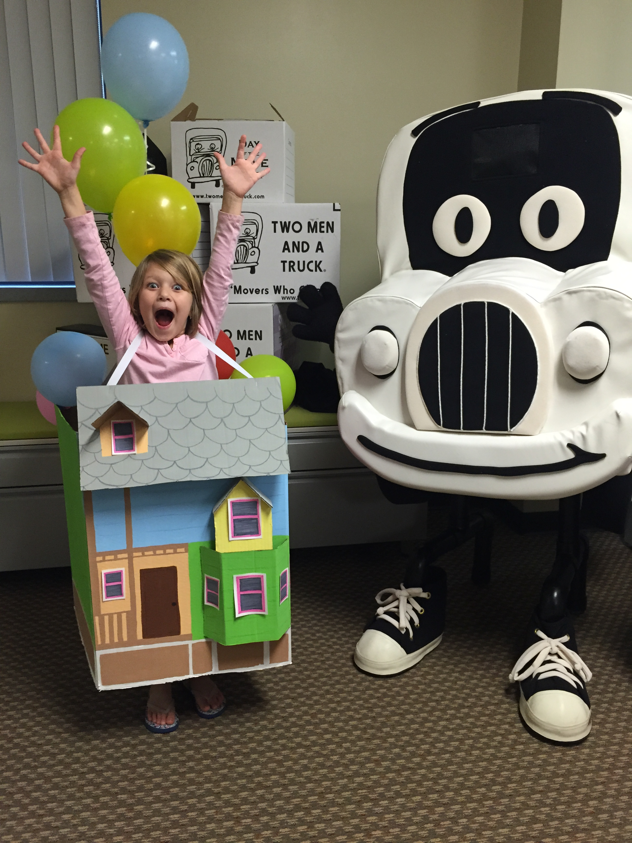 Use Your Old Moving Boxes As Halloween Costume Inspiration