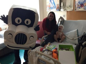 Truckie and Lauren bringing joy to Comer Children's Hospital in Chicago, IL.