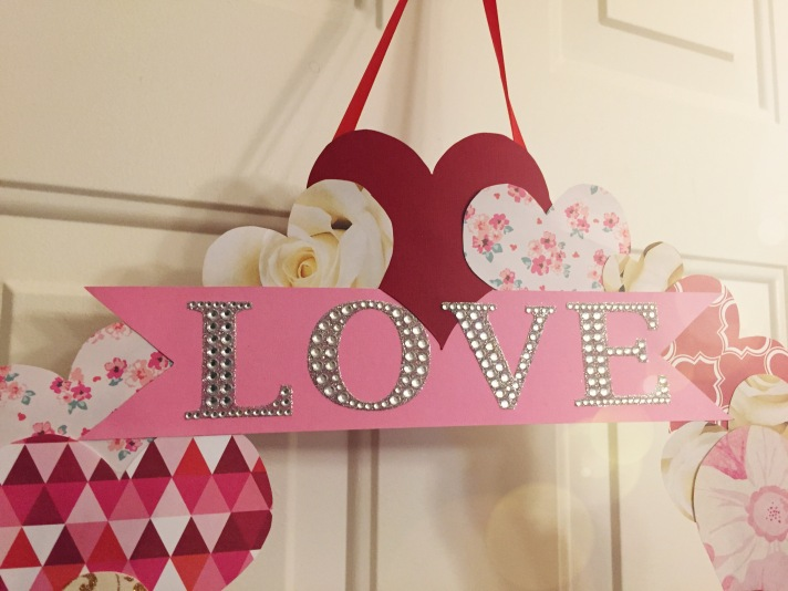 DIY Valentine's Day Door wreath
