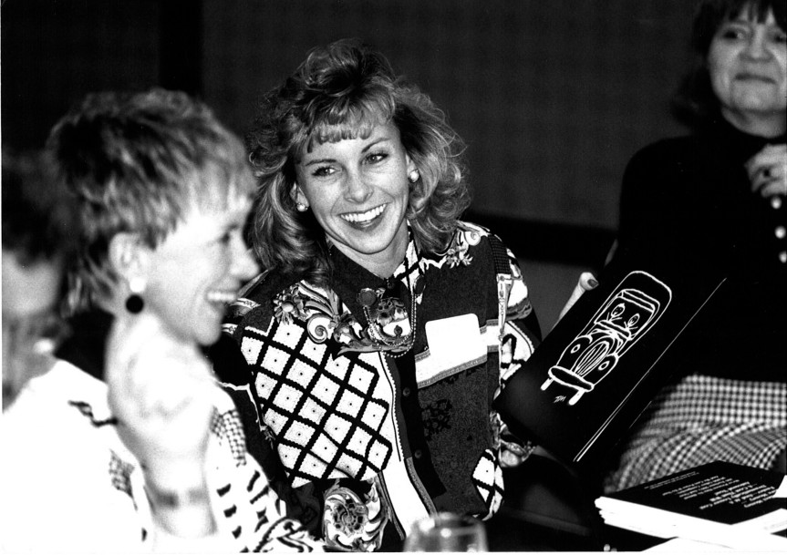 Founder Mary Ellen Sheets and Chair Melanie Bergeron, 1992