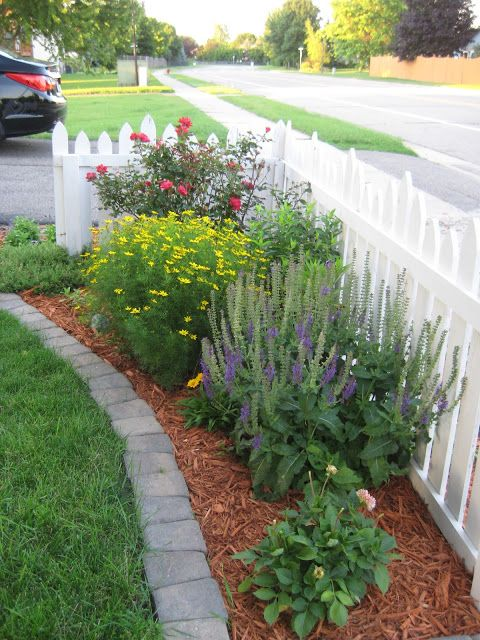Edged flower bed
