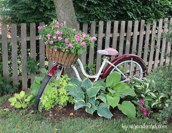 Garden bicycle planter