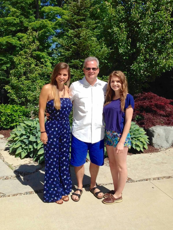 CEO Jeff Wesley with his daughters