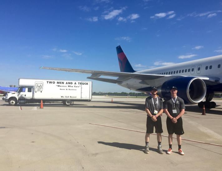 TWO MEN AND A TRUCK Chicago moving for COPA América Centenario