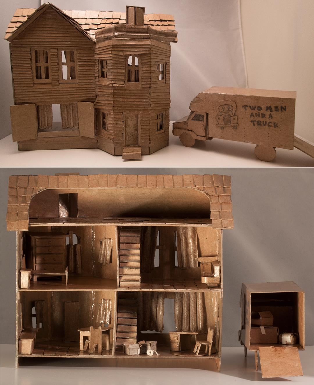 Top 10 Great Cardboard Craft Off Entries Two Men And A Truck