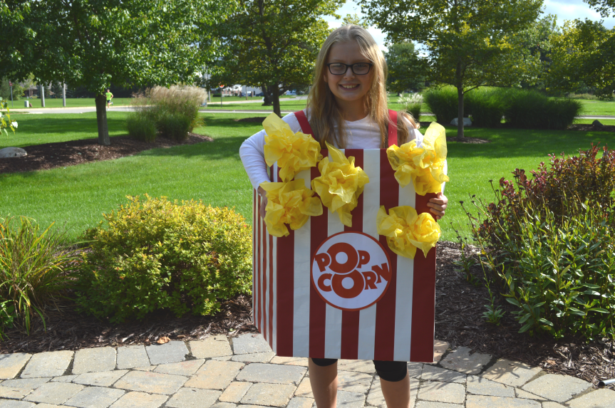 DIY Halloween Popcorn costume by TWO MEN AND A TRUCK