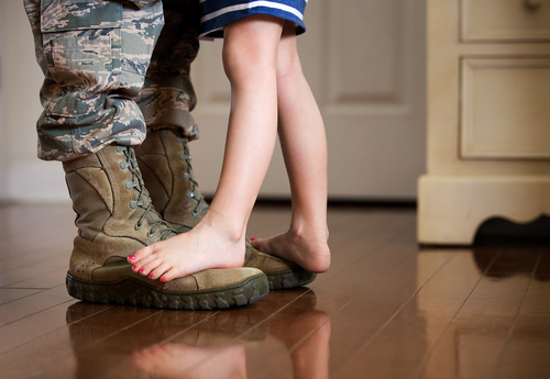 Discussing a military move with your little ones